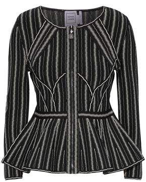 Herve Leger Striped Bandage Peplum Jacket