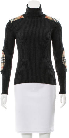 Burberry  Burberry London Wool Turtleneck Top