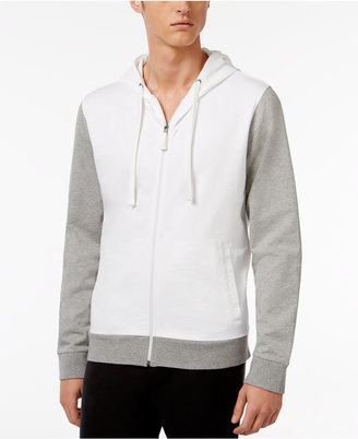 Bar III Men's Zip Cotton Pajama Hoodie, Only at Macy's $50 thestylecure.com