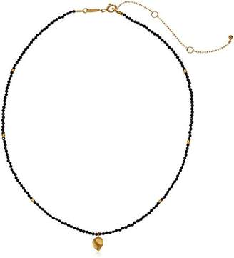 Satya Jewelry Agate Gold Plated Hamsa Choker Necklace