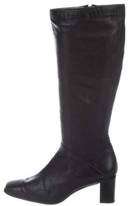 Stuart Weitzman Leather Mid Heel Boots
