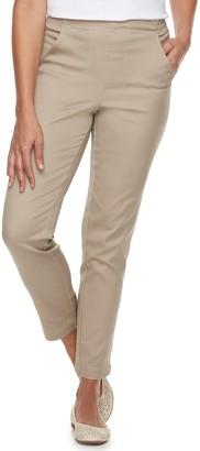 Croft & Barrow Petite Classic Pull-On Tapered-Leg Pants