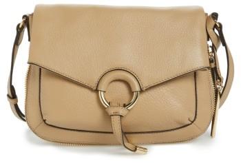 Vince Camuto Adina Leather Crossbody Bag - Beige