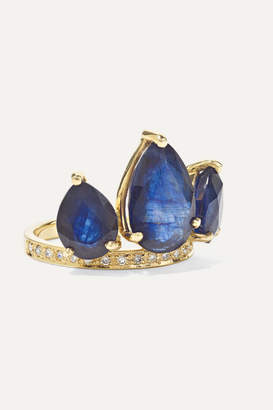 Jacquie Aiche Crown Petal 14-karat Gold, Sapphire And Diamond Ring