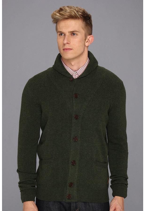 Ben Sherman High Shawl Collar Cardigan (Pirate Green) - Apparel
