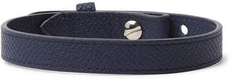 Dunhill Cross-Grain Leather Bracelet