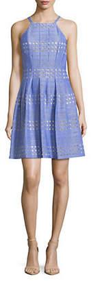 Eliza J Laser-Cut Sleeveless Dress