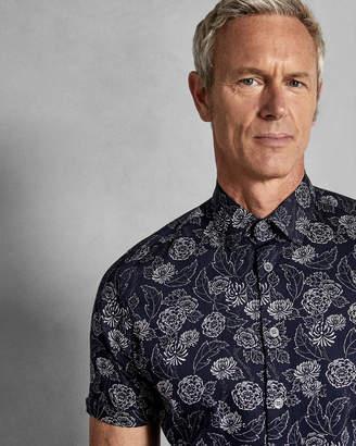 Ted Baker TEVALTT Floral print cotton shirt