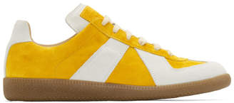 Maison Margiela Yellow and White Replica Sock Sneakers