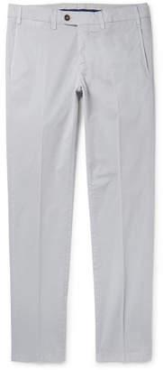 Canali Slim-fit Stretch-cotton Twill Chinos - Gray