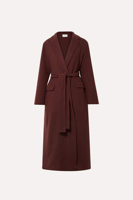 The Row Amoy Cashmere And Wool-blend Felt Coat - Burgundy