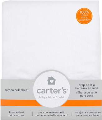 Carter's Cotton Sateen Fitted Crib Sheets