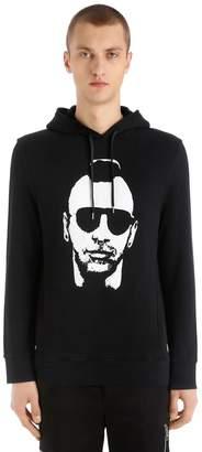 Neil Barrett Printed Hooded Cotton Jersey Sweatshirt