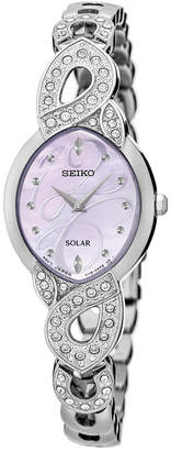 Seiko Women's Solar Stainless Steel Bracelet Watch 20mm SUP339 $295 thestylecure.com