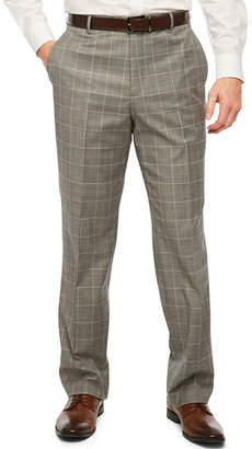 STAFFORD Stafford Travel Grid Stretch Classic Fit Suit Pants
