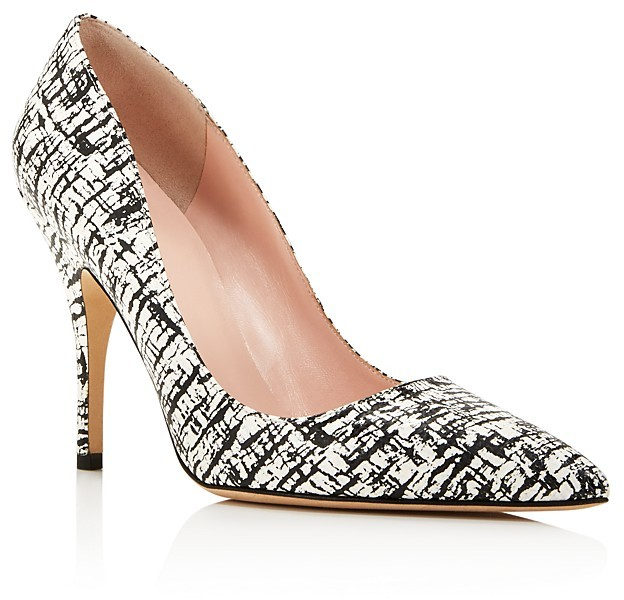Kate Spadekate spade new york Licorice Crackle Print Pointed Toe Pumps