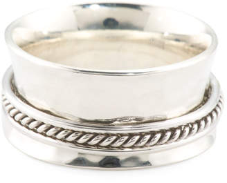 Made In Mexico Sterling Silver Hammered Spinner Ring