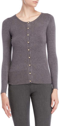 Vila Milano Pearl-Inspired Button Cardigan