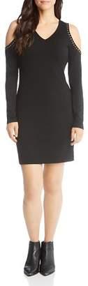 Karen Kane Studded Cold Shoulder Dress