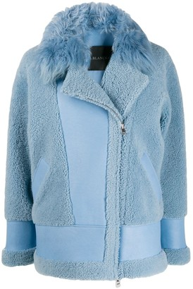 Blancha faux shearling aviator jacket