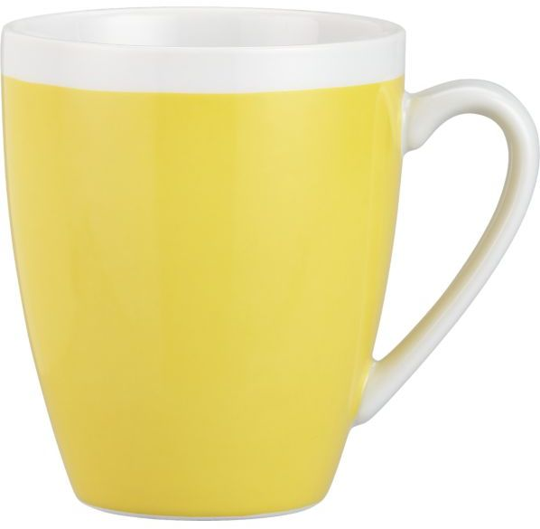 Crate & Barrel Yellow Mug