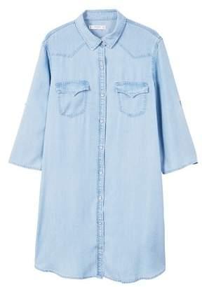 MANGO Denim shirt dress