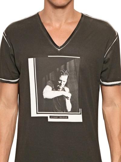 Dolce & Gabbana Micky Rourke Overdyed Jersey T-Shirt