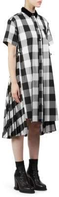 Sacai Cotton Poplin Gingham Dress