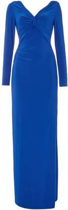 Lauren Ralph Lauren V Neck Long Sleeve Gown