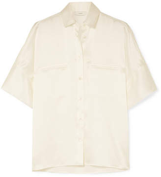 Vince Silk-satin Shirt - White