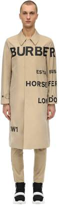 Burberry Printed Cotton Canvas Trench Coat