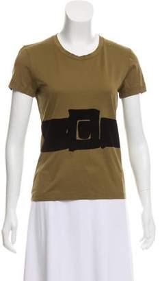 Saint Laurent Velvet- Accented Tee Shirt