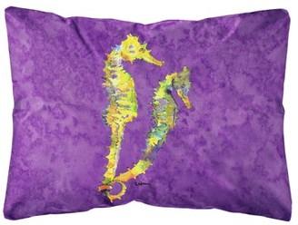 Caroline's Treasures Seahorse Canvas Fabric Decorative Pillow