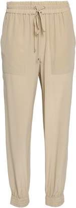 Theory Washed-silk Tapered Pants