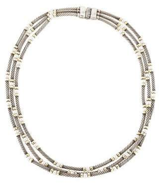 David Yurman Pearl Multistrand Metro Necklace silver Pearl Multistrand Metro Necklace