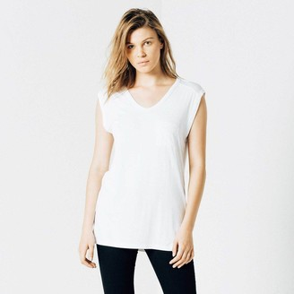 DSTLD Modal Muscle Tee in White