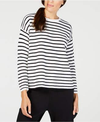Eileen Fisher Merino Wool Striped Sweater, Regular & Petite