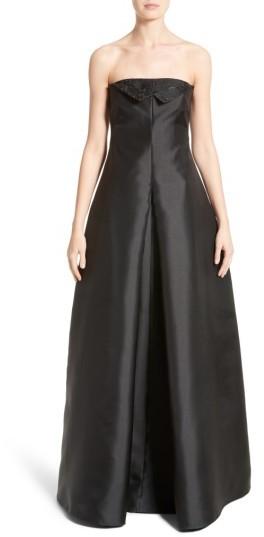 Women's Armani Collezioni Crystal Embellished Gazar Strapless Gown