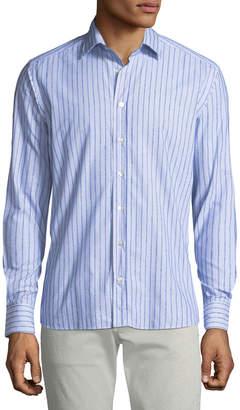 Etro Men's Chenille Striped Sport Shirt