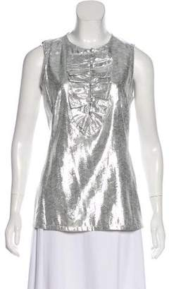Tory Burch Metallic Sleeveless Top