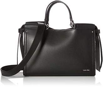 Calvin Klein Callie Crosshatch Leather Knotted Satchel