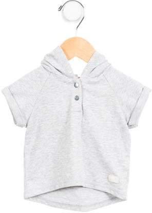 Boys' Hooded Mélange Sweatshirt