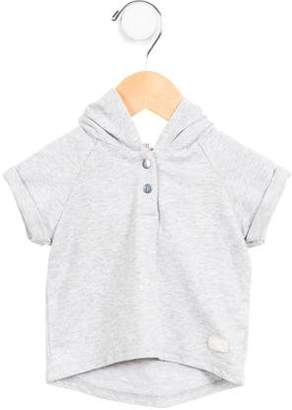 7 For All Mankind Boys' Hooded Mélange Sweatshirt