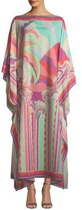 Emilio Pucci Long Multicolor Printed Kaftan