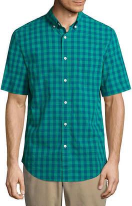 ST. JOHN'S BAY Short Sleeve Button-Front Shirt
