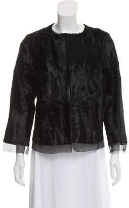 Pologeorgis Fur Silk Trim Jacket