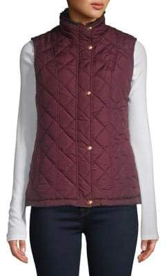 Weatherproof Quilted Button Front Vest