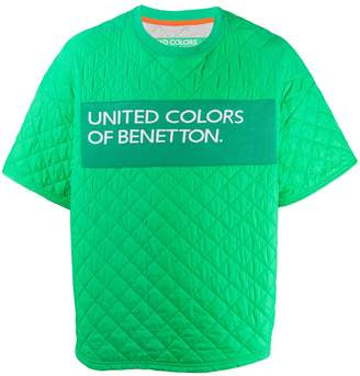 Benetton quilted logo T-shirt