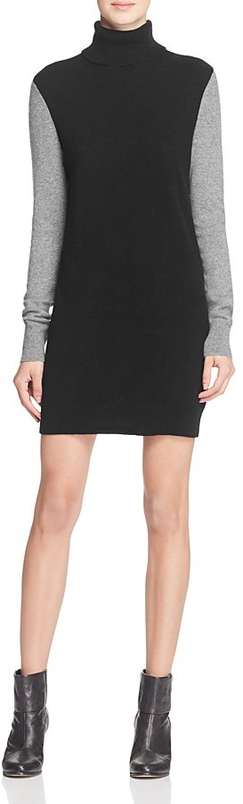 Equipment Oscar Turtleneck Cashmere Sweater Dress