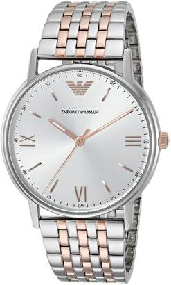 Emporio Armani Men's 'Dress' Quartz Stainless Steel Casual Watch, Color:-Toned (Model: AR11093)